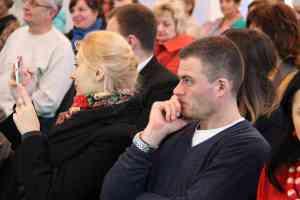 Педагоги уважно слухают про конкурс ЕКОклас