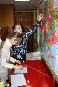 Закріплення сподівань дітей на карті України